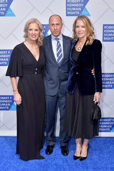 Kerry Kennedy, president of Robert F. Kennedy Human Rights, with Marc Spilker and Diane Spilker at the 2018 Ripple of Hope Awards.